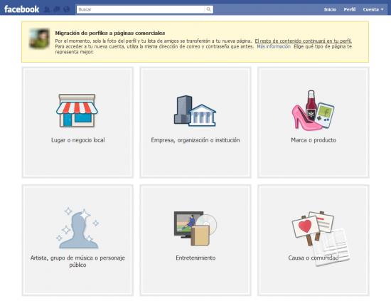 Migración de perfil a página de facebook, primer paso para unir perfil y página de facebook