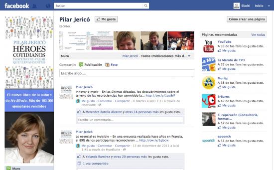 Pilar Jericó, un ejemplo de uso de avatar de facebook como banner