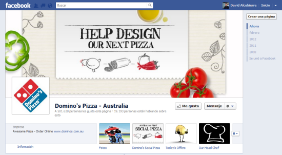 Domino's Pizza Australia (después)