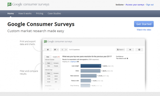 Google Consumer Surveys