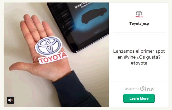 Toyota en Vine