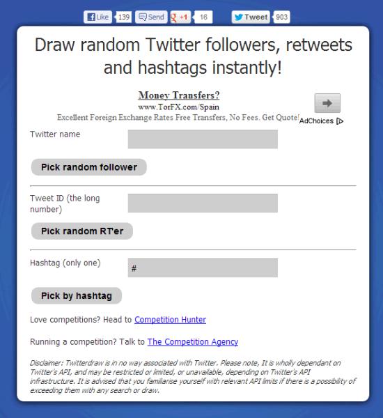 Twitter Draw