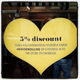 Sweden Calling 5 percent Discount instagram