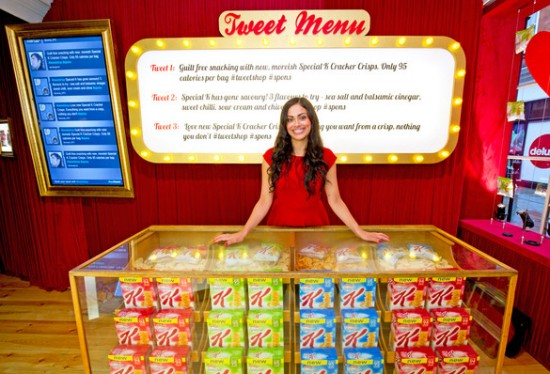 kelloggs tweet shop