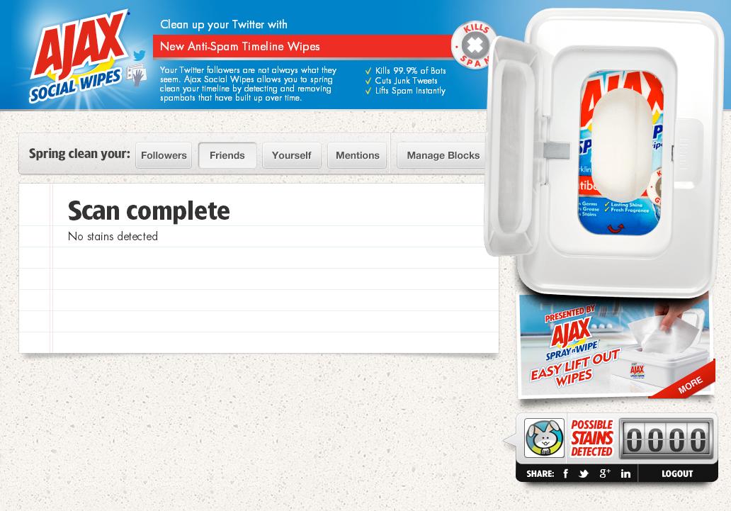 herramienta para limpiar perfiles de ajax