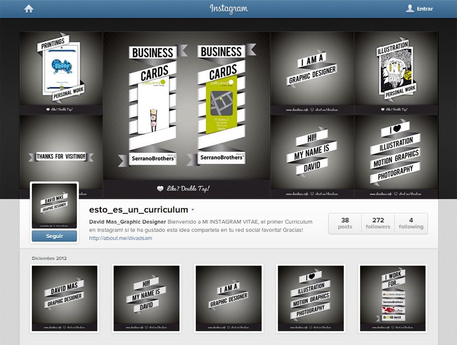 tu curriculum en instagram