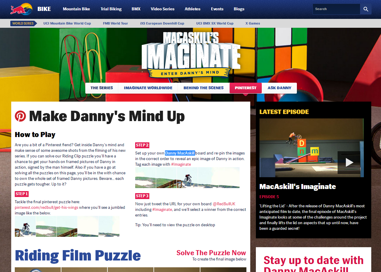 Red Bull se promociona mediante puzzles en Pinterest