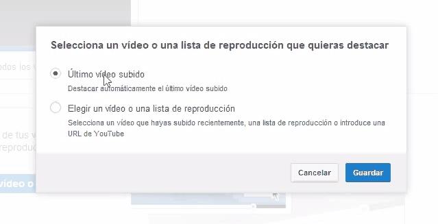 Destacar vídeo o lista de reproducción