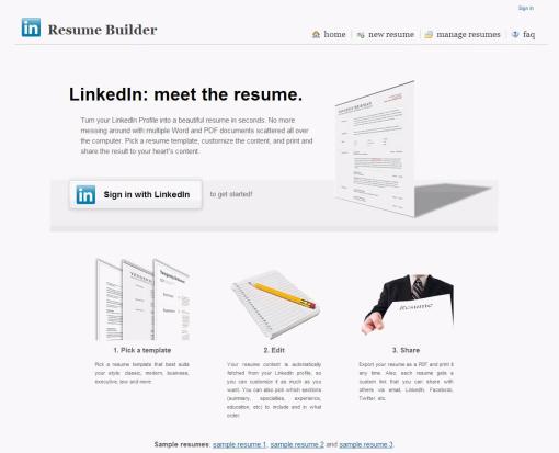 Linkedin Resume Builder