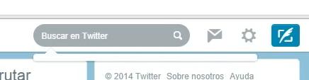 caja de buscador de twitter