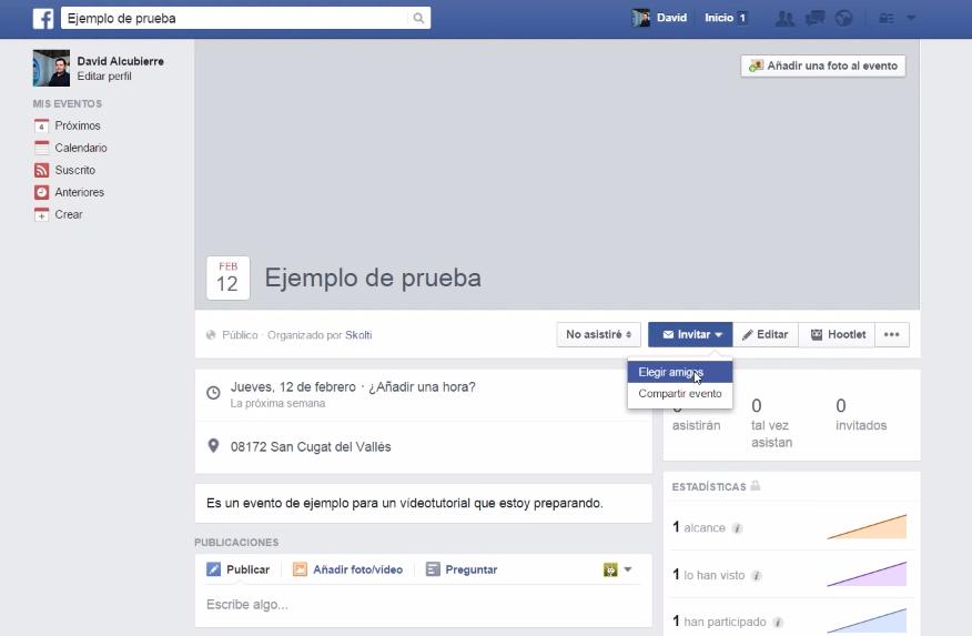 invitar amigos de facebook
